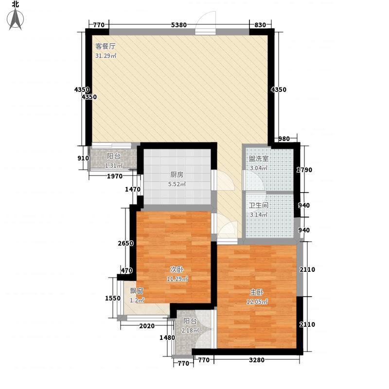 康乐花园96.68㎡1、3号楼纯东、西户型2室2厅2卫1厨