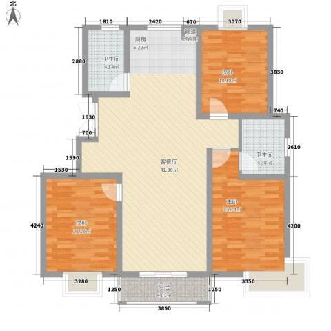 瘦西湖名苑3室1厅2卫0厨128.00㎡户型图