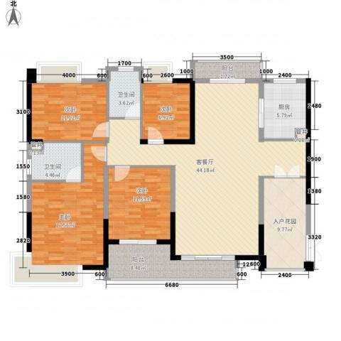 黄旗山1号4室1厅2卫1厨159.00㎡户型图