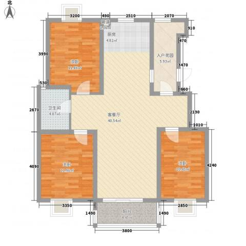 瘦西湖名苑3室1厅1卫0厨127.00㎡户型图