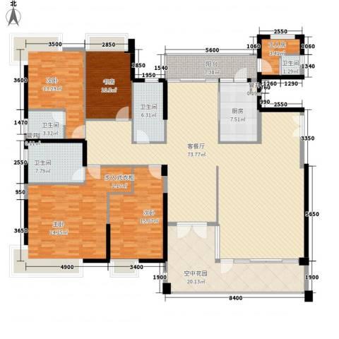 黄旗山1号4室1厅4卫1厨233.00㎡户型图