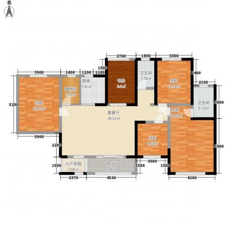 香榭兰廷5室1厅2卫1厨133.00㎡户型图