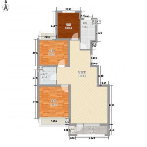 城建南郡3室0厅1卫1厨102.00㎡户型图