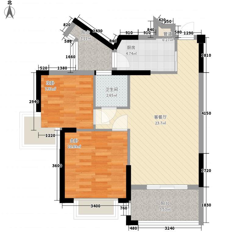 南宁台湾街78.00㎡8#-07户型2室2厅1卫