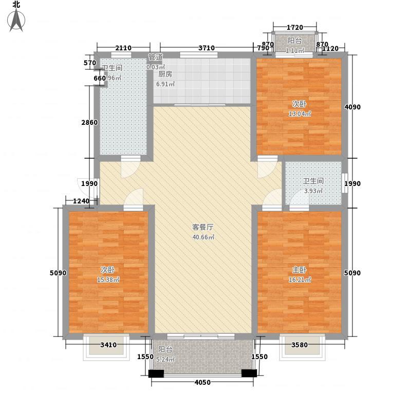 东城国际131.00㎡C3户型3室2厅2卫