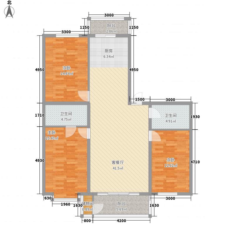 大众新城136.50㎡大众新城户型图3室2厅2卫1厨户型10室