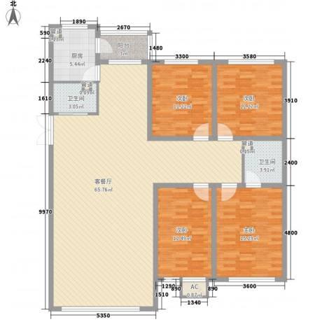 锦绣东方4室1厅2卫1厨162.00㎡户型图