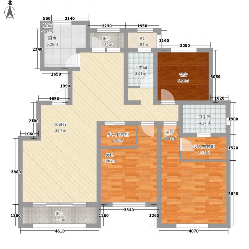 华厦津典三期165.76㎡华厦津典三期户型图4、9号楼3-8层B户型3室2厅2卫1厨户型3室2厅2卫1厨