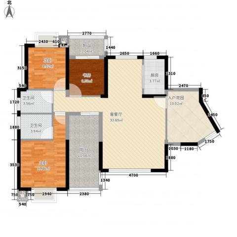 海晟维多利亚3室1厅2卫1厨139.00㎡户型图