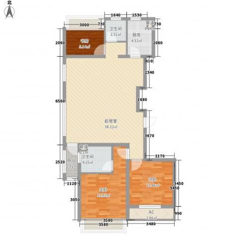 城建南郡3室0厅2卫1厨118.00㎡户型图