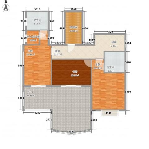 金色比华利3室0厅2卫0厨243.00㎡户型图