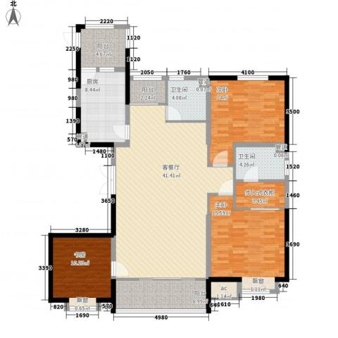 恒盛豪庭3室1厅2卫1厨165.00㎡户型图