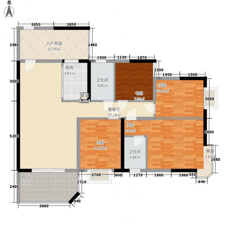 凤凰台140.43㎡12#楼A2户型(2011-03-09户型4室2厅2卫1厨
