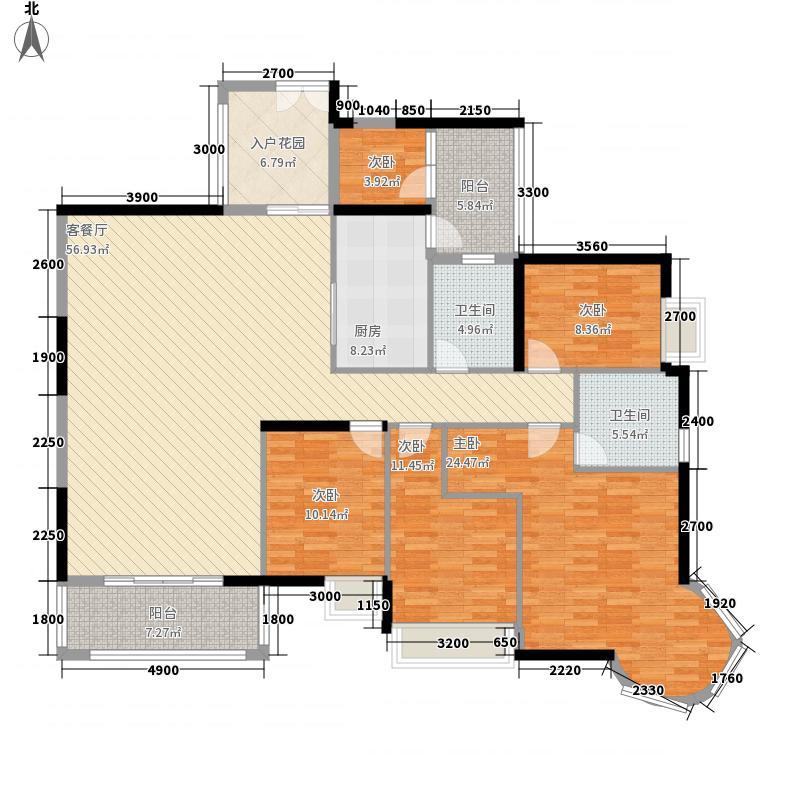 大信君汇湾13.00㎡03户型6室2厅2卫1厨