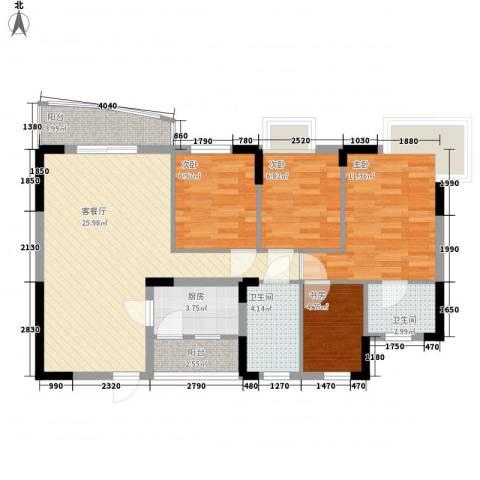 健逸天地4室1厅2卫1厨105.00㎡户型图