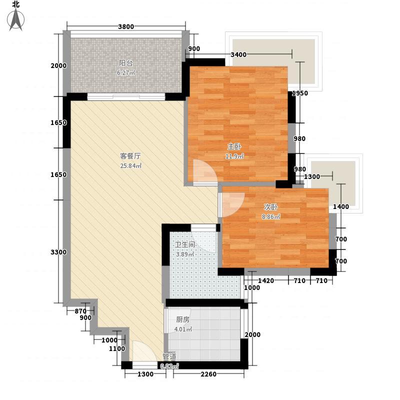 金色华庭二期 2室 户型图