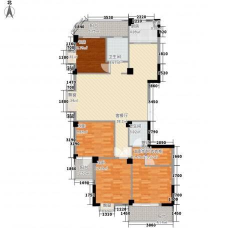 一品江南4室1厅2卫1厨154.00㎡户型图
