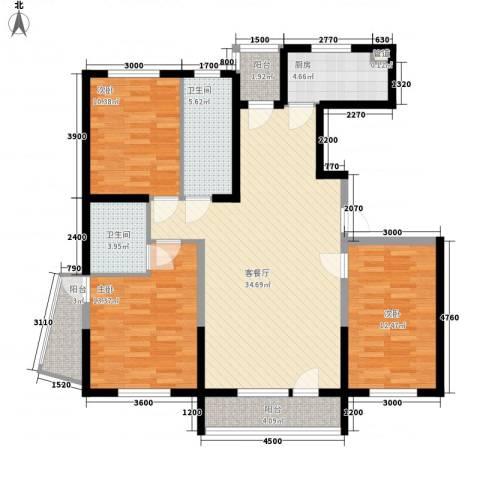 幸福E家五期3室1厅2卫1厨135.00㎡户型图