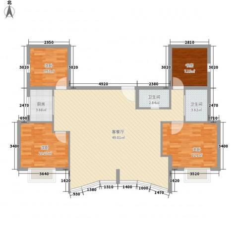 武夷天琴湾4室1厅2卫1厨125.00㎡户型图