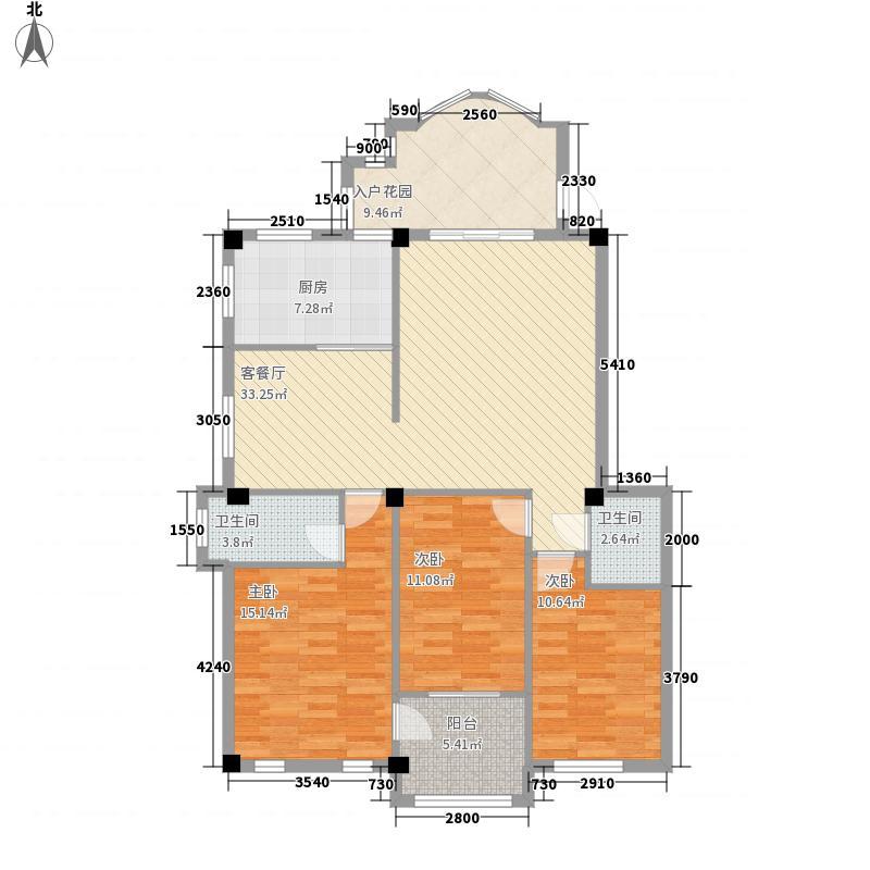 瑞士花园6-1号楼方户型