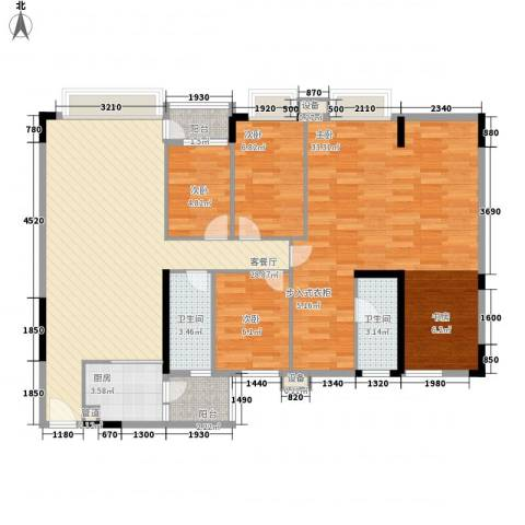 蓝色海岸4室1厅2卫1厨132.00㎡户型图