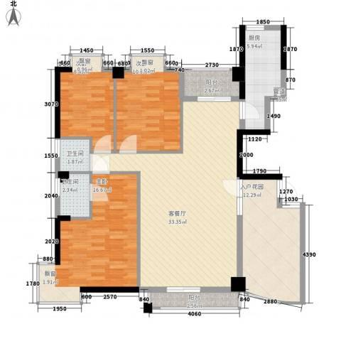 悦美��3室1厅2卫1厨138.00㎡户型图