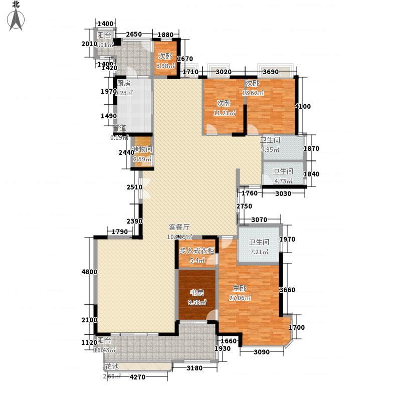 大信君汇湾152.00㎡K5户型4室2厅2卫1厨