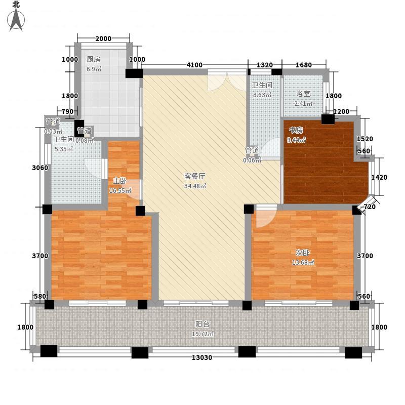 大�海・半山壹�146.00㎡A9B5户型3室2厅2卫