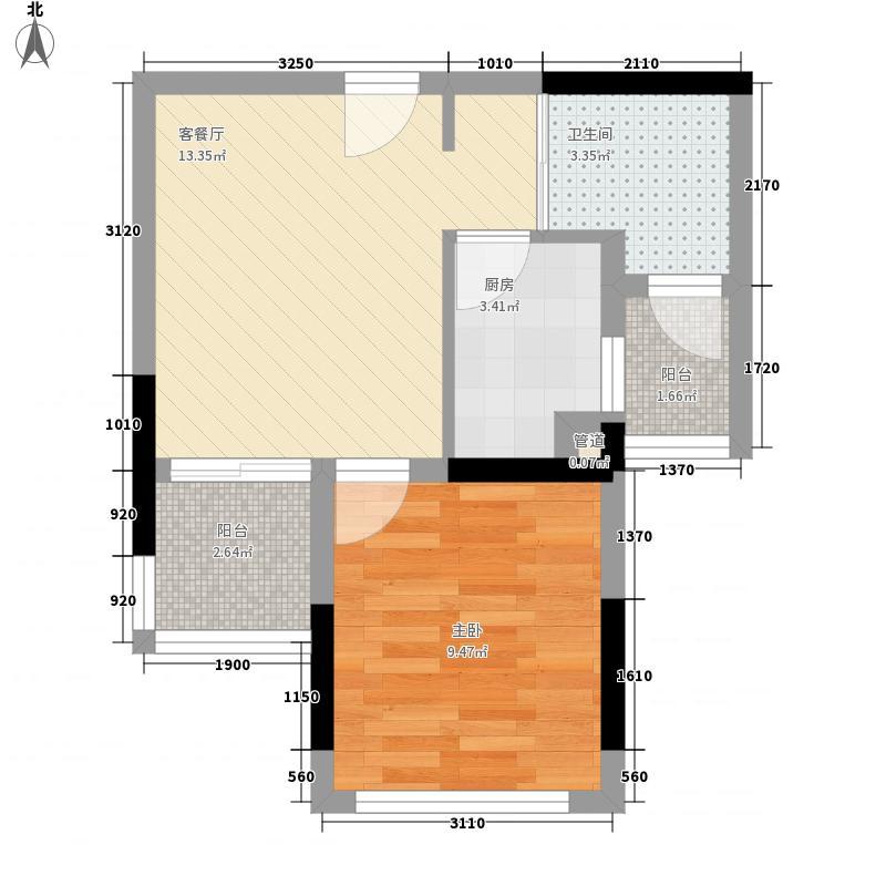 理想0769二期60.00㎡理想0769二期1室户型1室