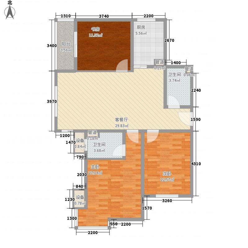 龙湾情怀126.46㎡龙湾情怀户型图A1户型3室2厅2卫1厨户型3室2厅2卫1厨