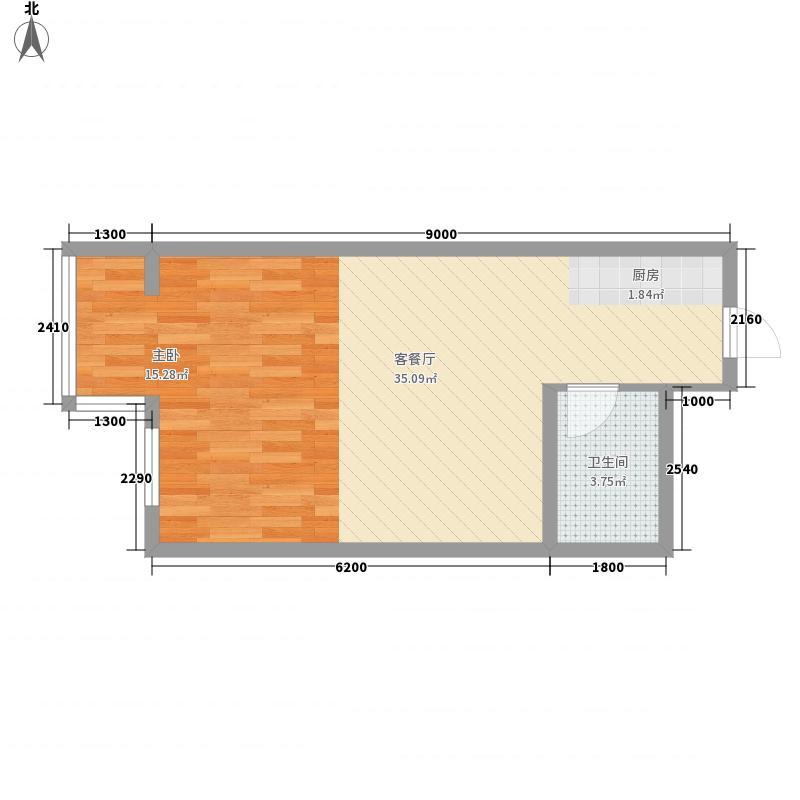 磐基苑52.00㎡磐基苑户型图A31室1厅1卫1厨户型1室1厅1卫1厨