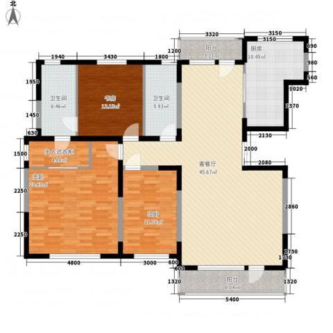幸福E家五期3室1厅2卫1厨179.00㎡户型图