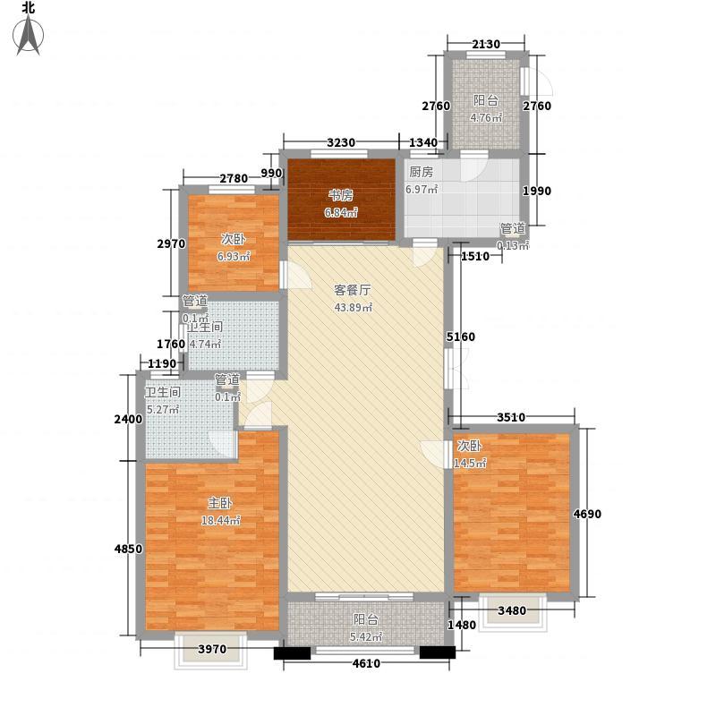 蓝湾国际167.00㎡7#东-西户型4室2厅2卫