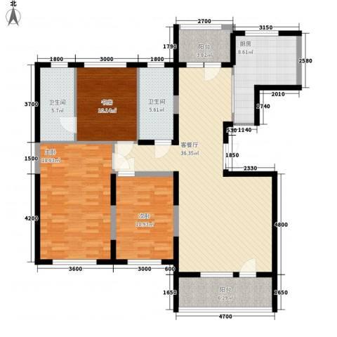 幸福E家五期3室1厅2卫1厨151.00㎡户型图