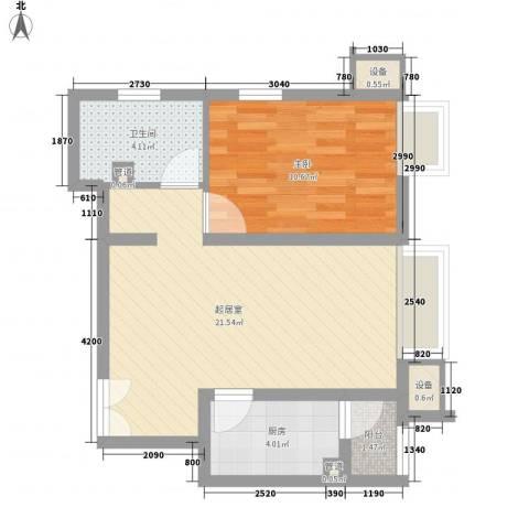 金隅凤麟洲1室0厅1卫1厨64.00㎡户型图