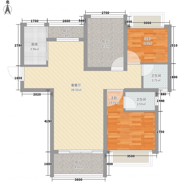 岭南澳苑五栋一座、六栋一座、六栋二座A户型3室2厅2卫1厨