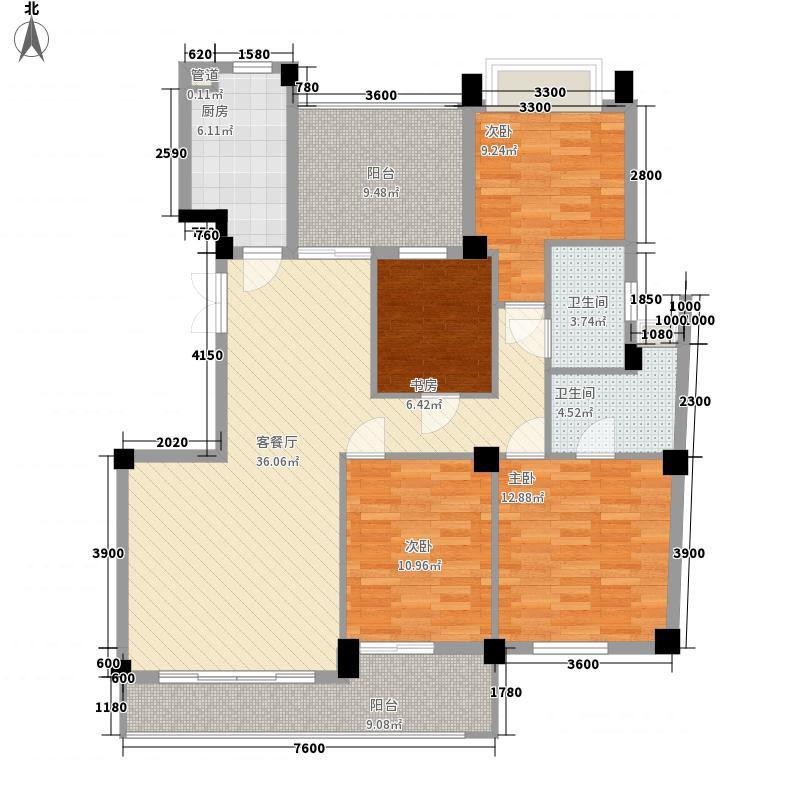 海润尊品203.00㎡海润尊品4室户型4室