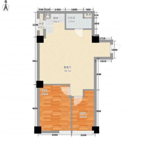 阳光金峰阁2室1厅1卫0厨92.00㎡户型图