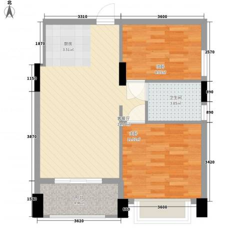 梦云南雨林澜山2室1厅1卫0厨74.00㎡户型图