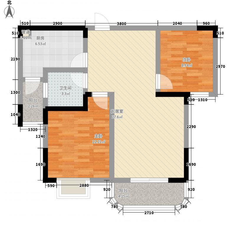 四季华庭91.00㎡b户型2室2厅1卫91㎡户型2室2厅1卫1厨