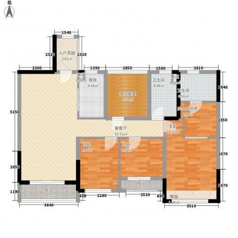 花样年江山3室1厅2卫1厨113.00㎡户型图