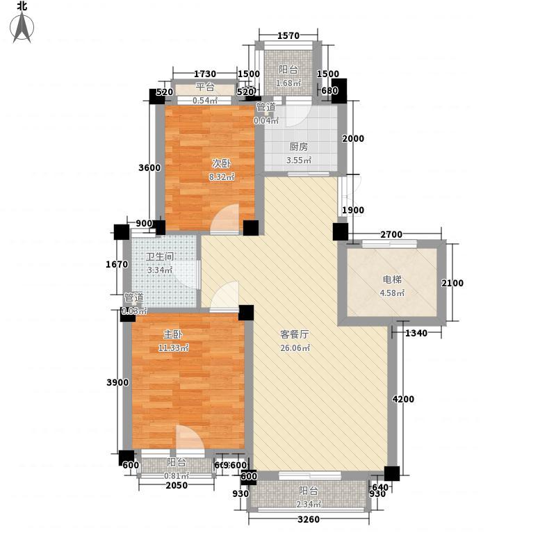 康桥小镇78.00㎡康桥小镇户型图D户型2室2厅1卫1厨户型2室2厅1卫1厨
