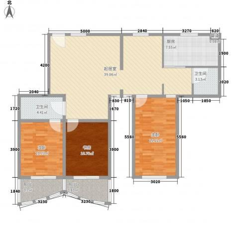 新领地3室0厅2卫1厨138.00㎡户型图