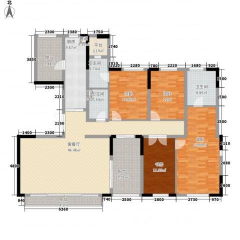 万科翡丽山4室1厅3卫1厨180.00㎡户型图
