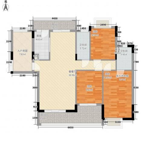 梦云南雨林澜山3室1厅2卫1厨134.00㎡户型图