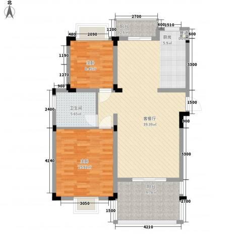 名门世家2室1厅1卫0厨115.00㎡户型图