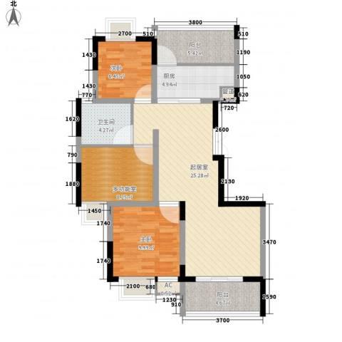 金色江南三期2室0厅1卫1厨103.00㎡户型图