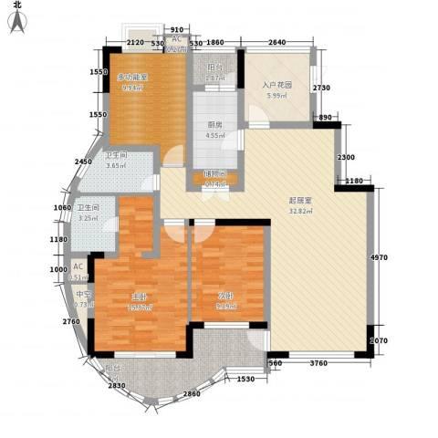 金色江南三期2室0厅2卫1厨142.00㎡户型图