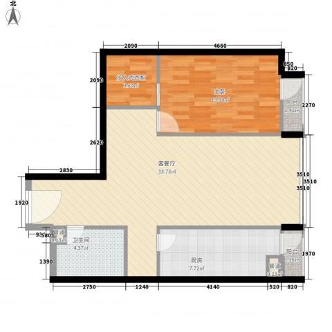 鼎极嘉华世纪1室1厅1卫1厨92.00㎡户型图
