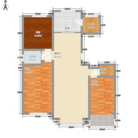 惠德花园3室1厅1卫1厨124.00㎡户型图